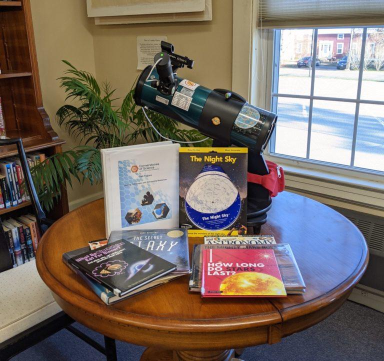 Astronomy Discover Kit Books, Planisphere, & Telescope