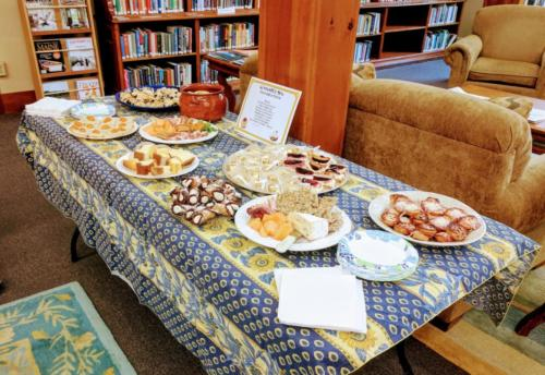 Food Table September 2017 CommuniTEA