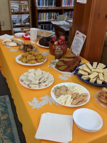 Delicious autumn treats at October 2017 CommuniTEA