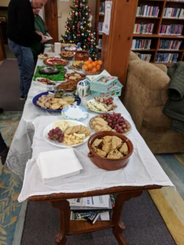 Food Table at December 2017 CommuniTEA