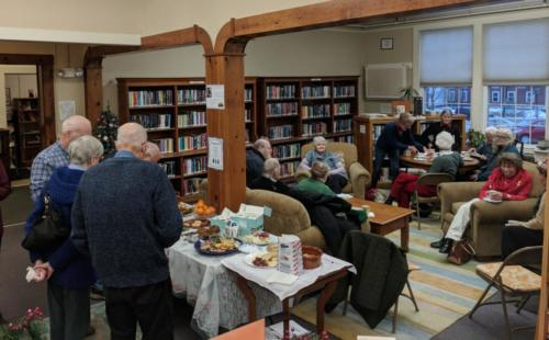 Community gathering at December 2017 CommuniTEA