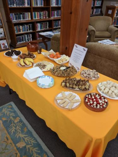 Food Table, January 2018 CommuniTEA